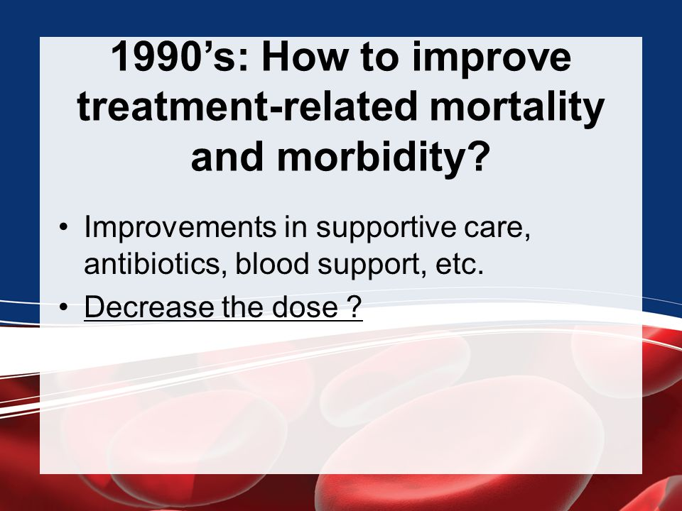 1990's: How to improve treatment-related mortality and morbidity