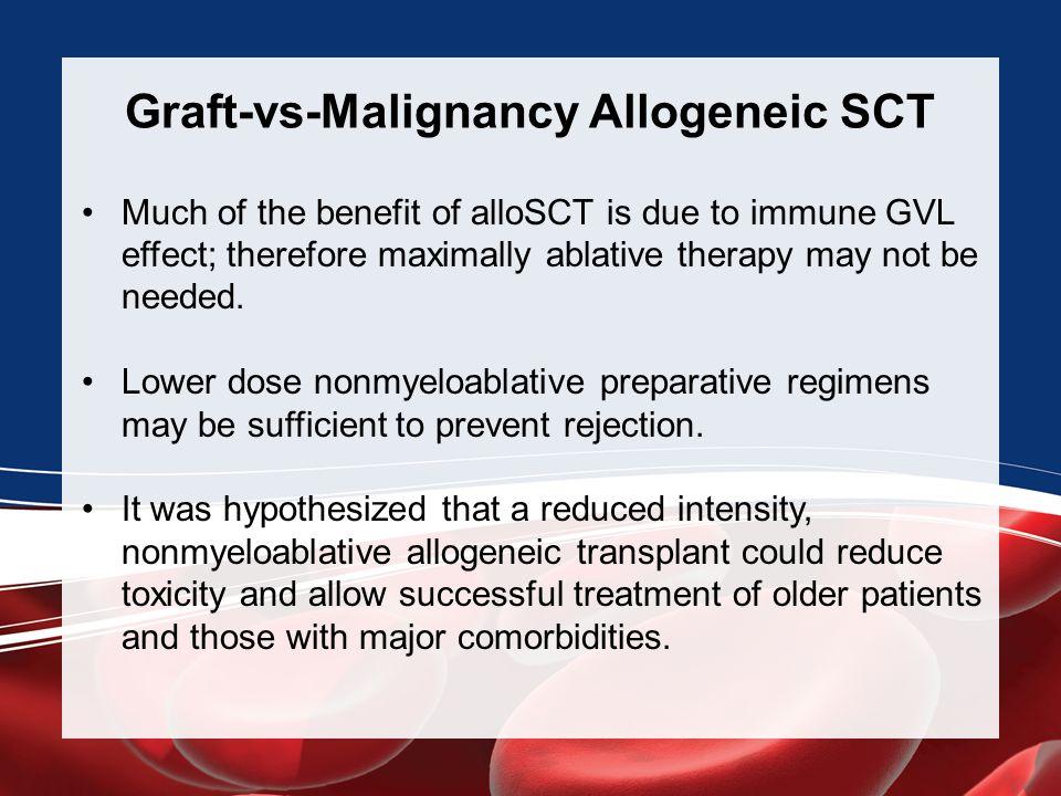 Graft-vs-Malignancy Allogeneic SCT