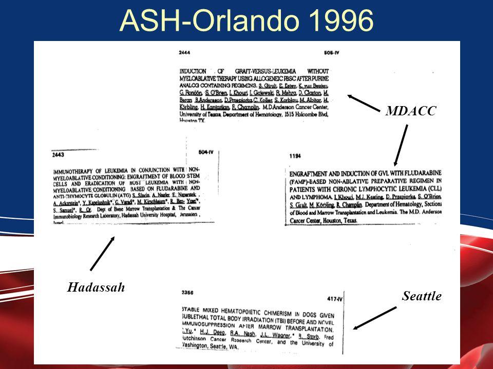 ASH-Orlando 1996 MDACC Hadassah Seattle