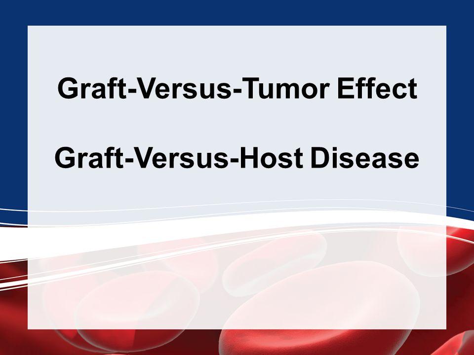 Graft-Versus-Tumor Effect Graft-Versus-Host Disease