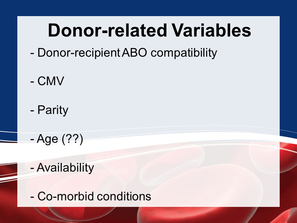 Donor-related Variables