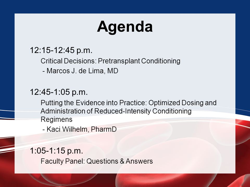 Agenda 12:15-12:45 p.m. 12:45-1:05 p.m. 1:05-1:15 p.m.