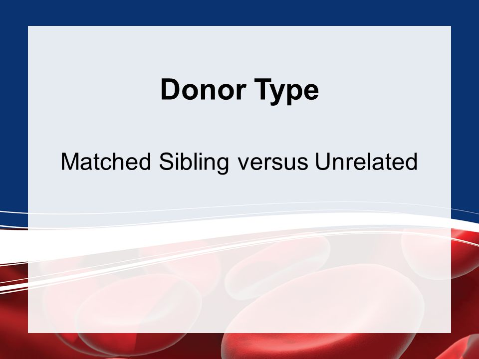 Donor Type Matched Sibling versus Unrelated