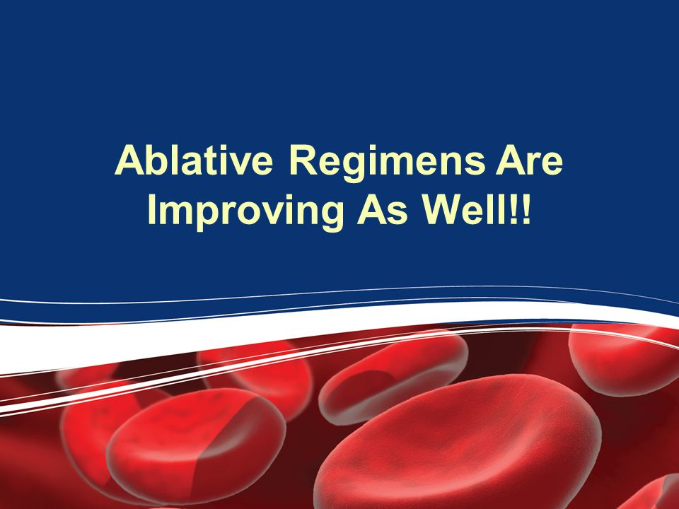 Ablative Regimens Are Improving As Well!!