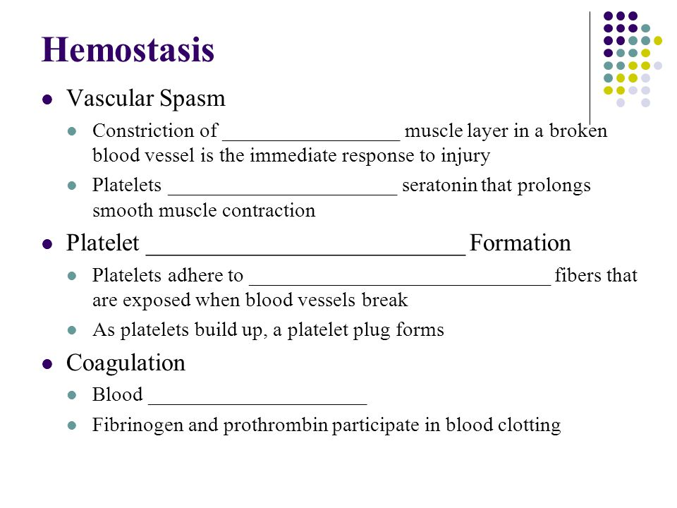 Hemostasis Vascular Spasm
