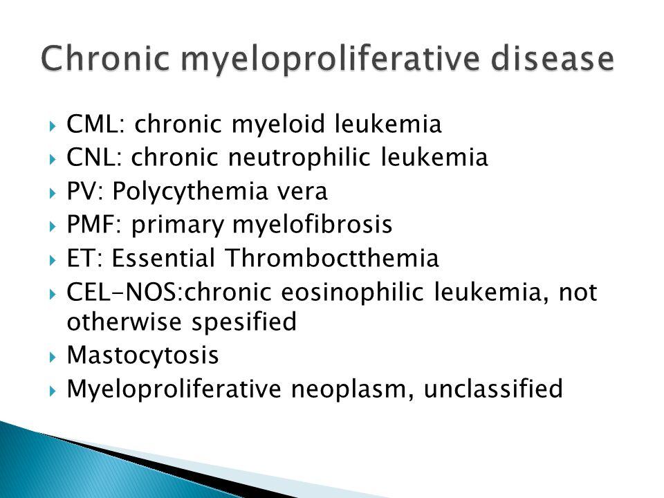 Chronic myeloproliferative disease