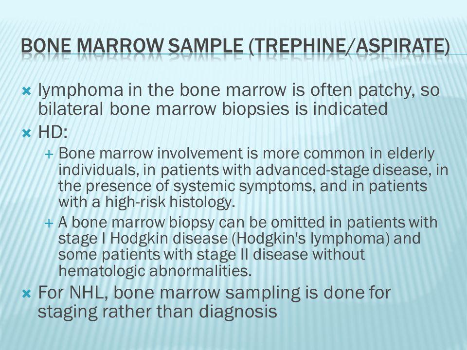 Bone marrow sample (trephine/aspirate)