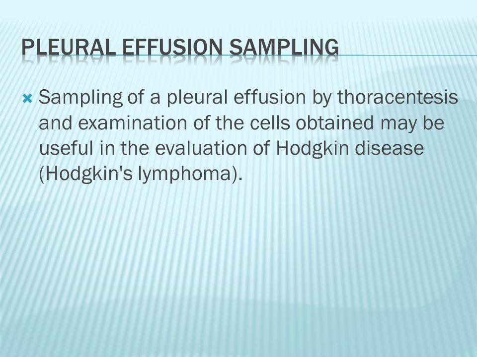 Pleural effusion sampling
