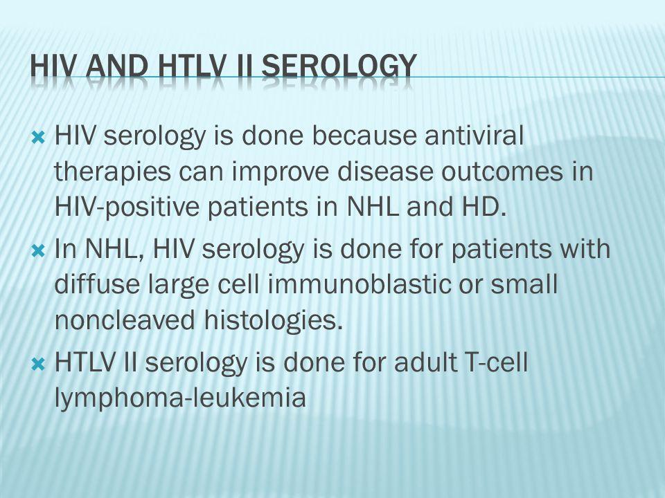 HIV and HTLV II serology