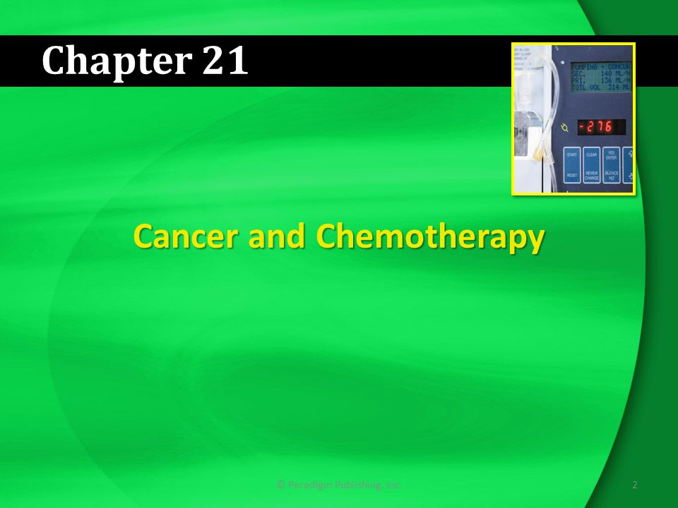 Cancer and Chemotherapy