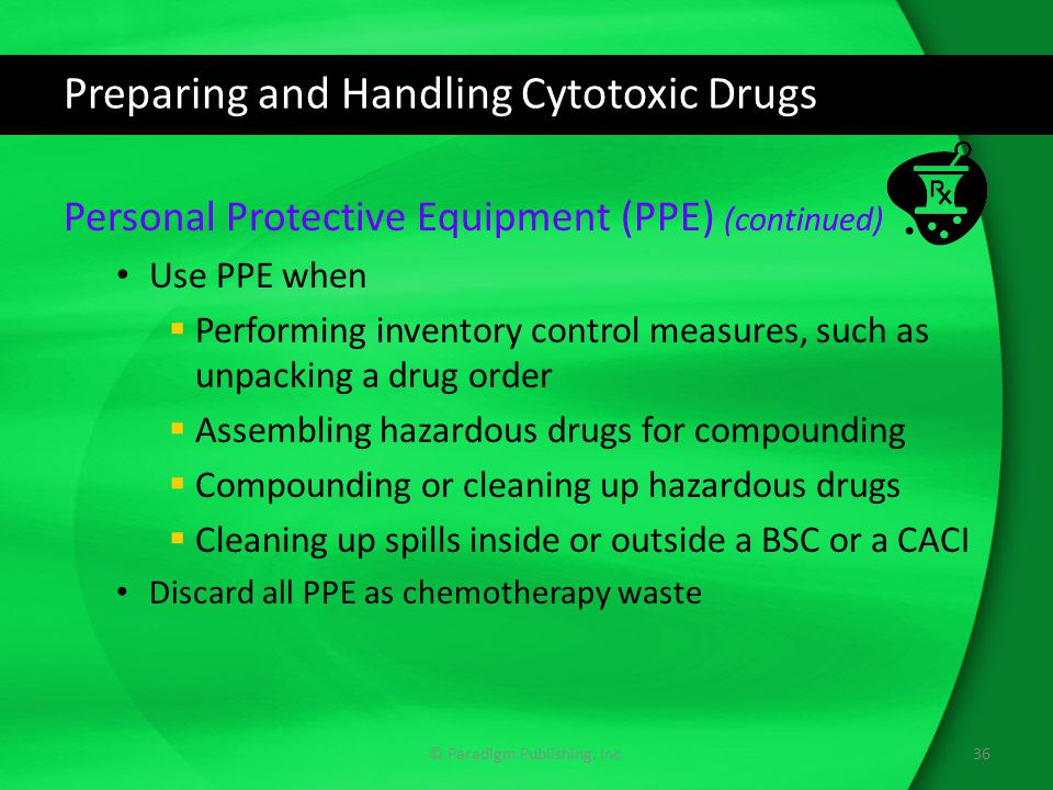 Preparing and Handling Cytotoxic Drugs