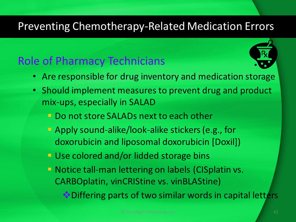 Preventing Chemotherapy-Related Medication Errors