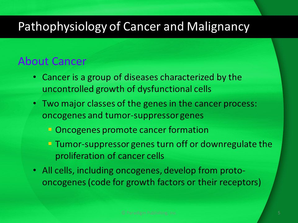 Pathophysiology of Cancer and Malignancy