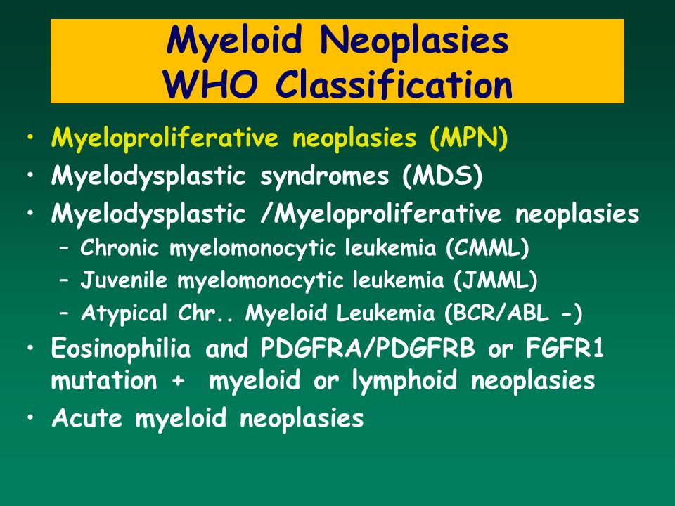 Myeloid Neoplasies WHO Classification