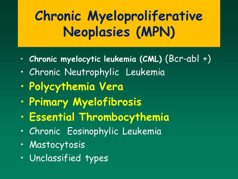 Chronic Myeloproliferative Neoplasies (MPN)