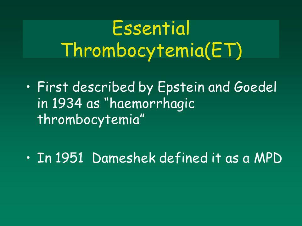 Essential Thrombocytemia(ET)