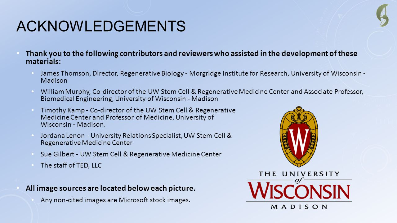 Acknowledgements Thank you to the following contributors and reviewers who assisted in the development of these materials:
