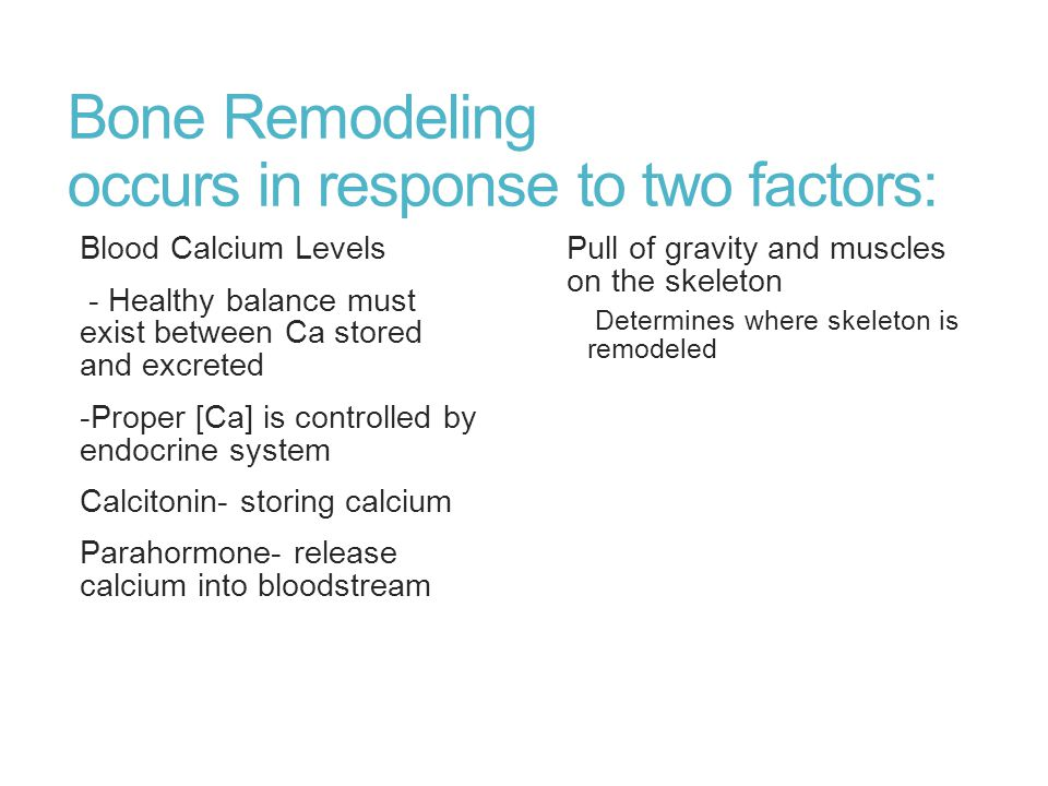 Bone Remodeling occurs in response to two factors: