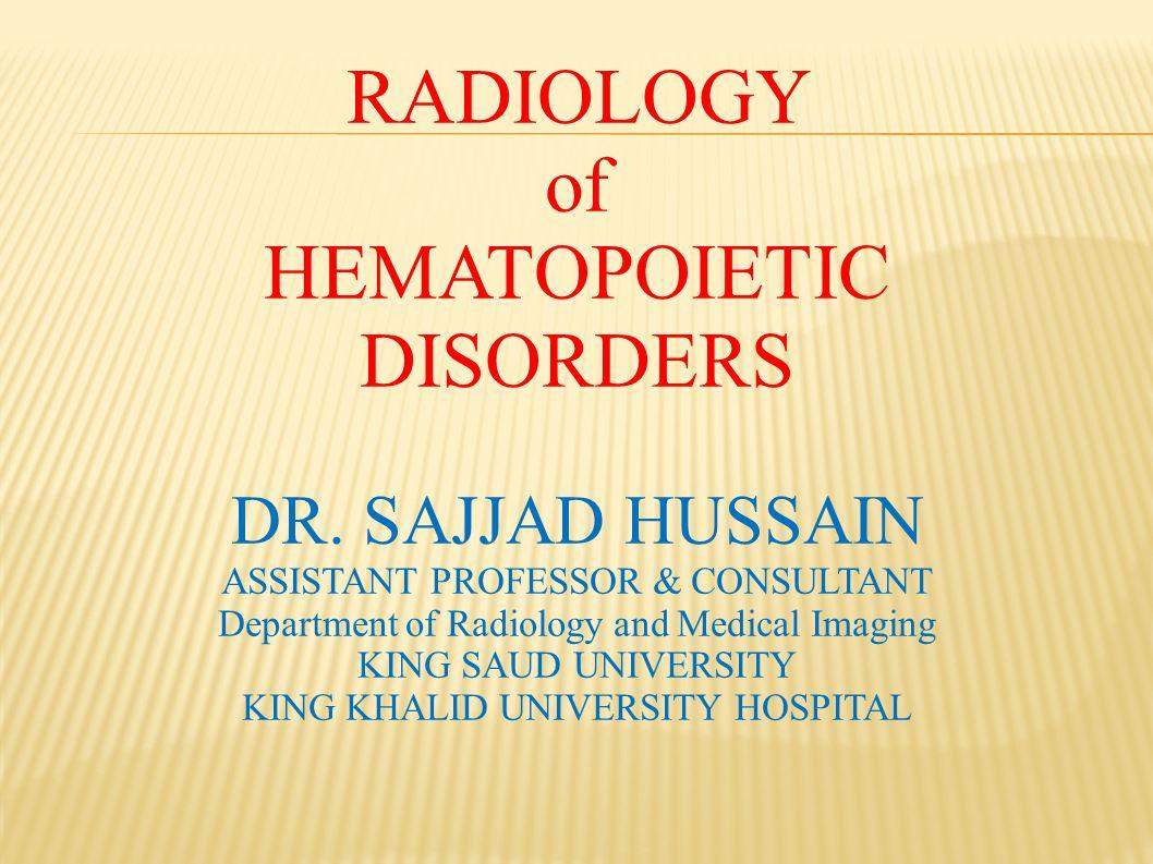 HEMATOPOIETIC DISORDERS