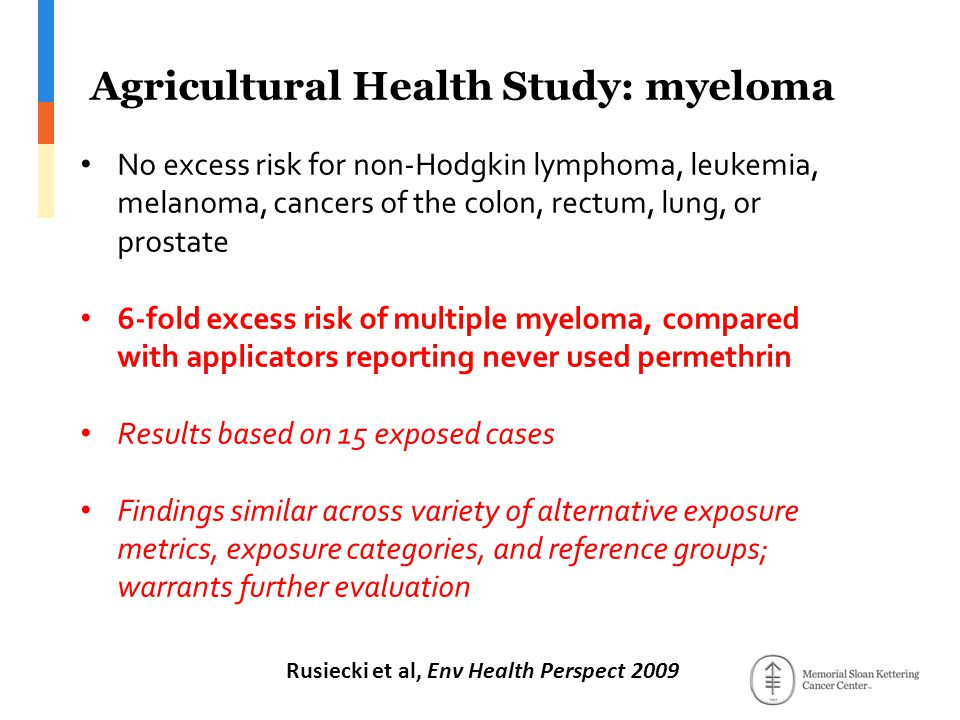 Agricultural Health Study: myeloma