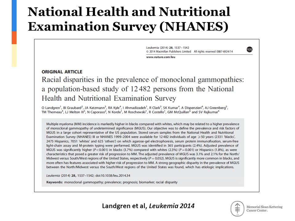 National Health and Nutritional Examination Survey (NHANES)