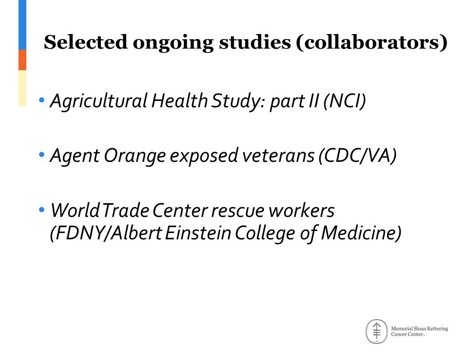 Selected ongoing studies (collaborators)