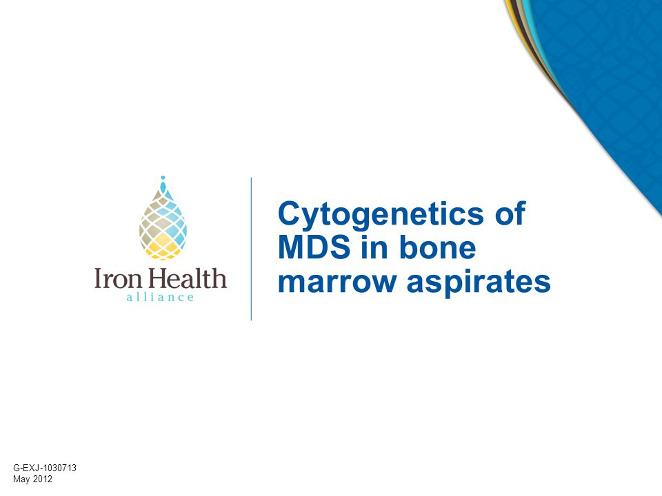Cytogenetics of MDS in bone marrow aspirates