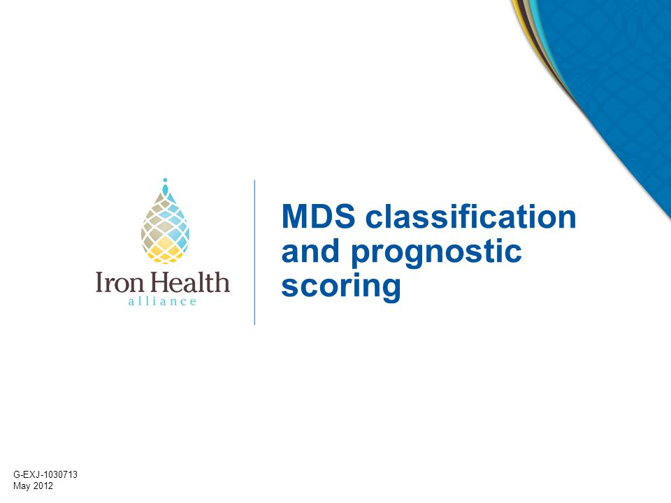 MDS classification and prognostic scoring