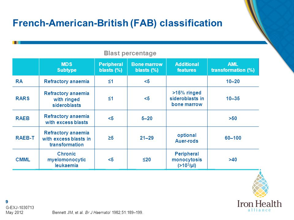 French-American-British (FAB) classification