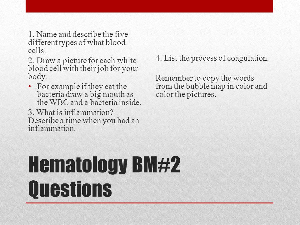 Hematology BM#2 Questions