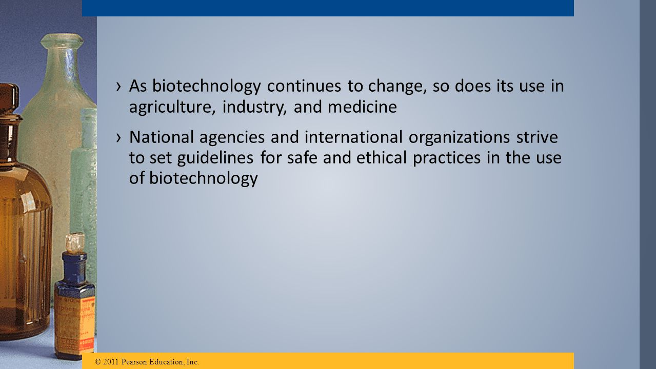 As biotechnology continues to change, so does its use in agriculture, industry, and medicine