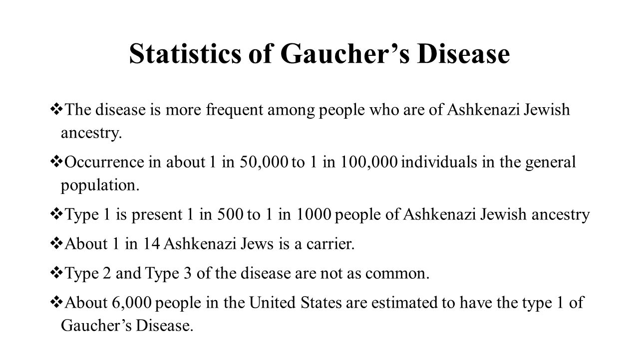 Statistics of Gaucher's Disease