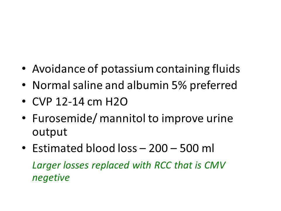 Intraoperative fluids