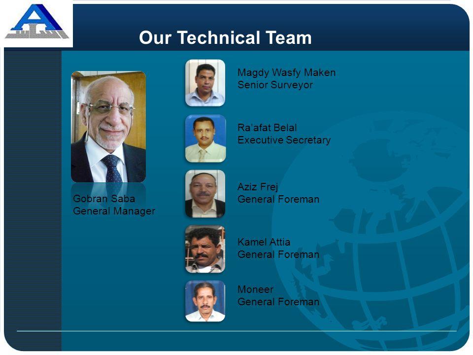 Our Technical Team Magdy Wasfy Maken Senior Surveyor Ra'afat Belal