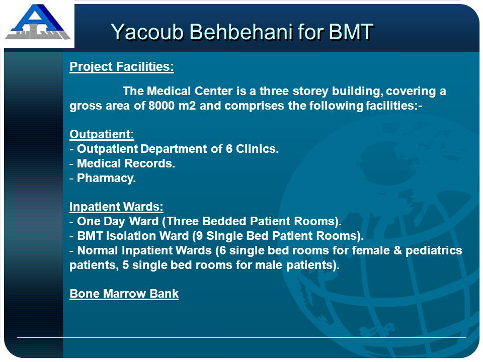 Yacoub Behbehani for BMT