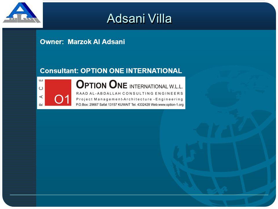 Adsani Villa Owner: Marzok Al Adsani