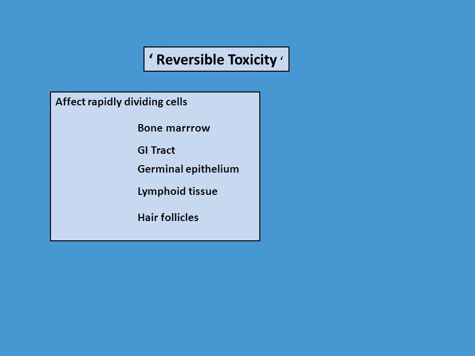 ' Reversible Toxicity '