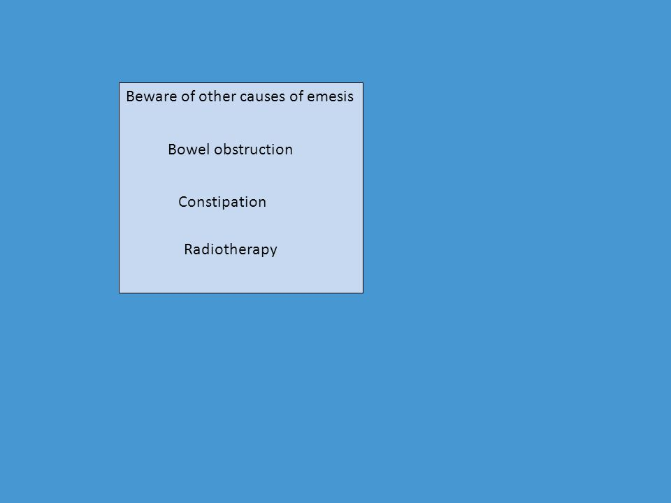 Beware of other causes of emesis