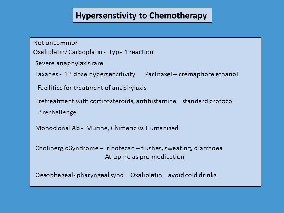 Hypersenstivity to Chemotherapy