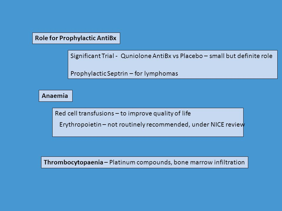 Role for Prophylactic AntiBx