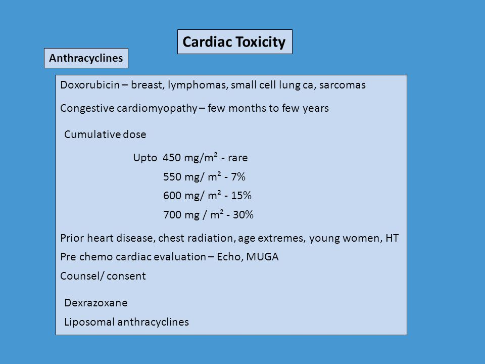 Cardiac Toxicity Anthracyclines