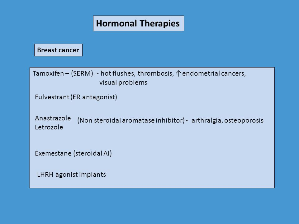 Hormonal Therapies Breast cancer