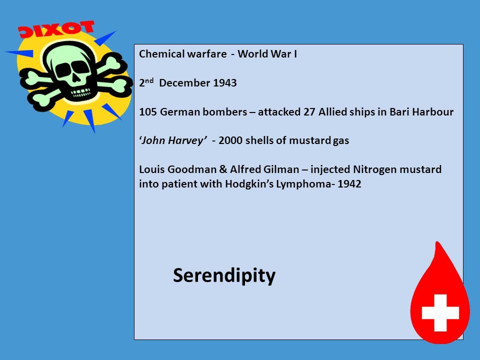 Serendipity Serendipity Chemical warfare - World War I