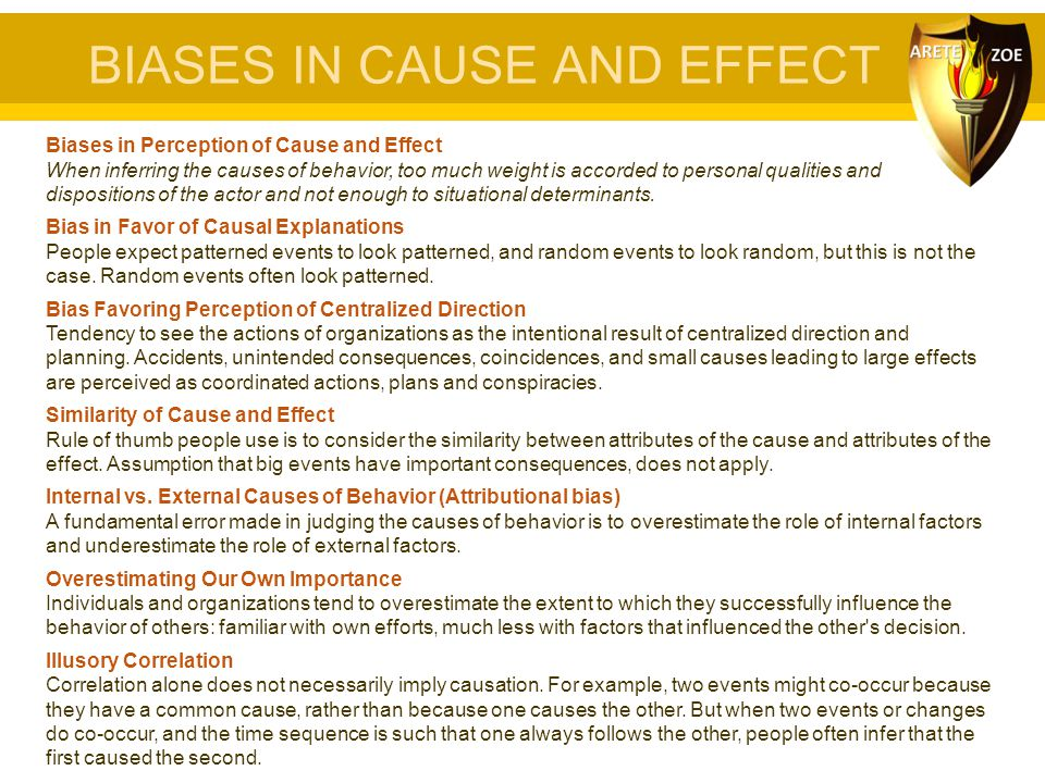 BIASES IN CAUSE AND EFFECT