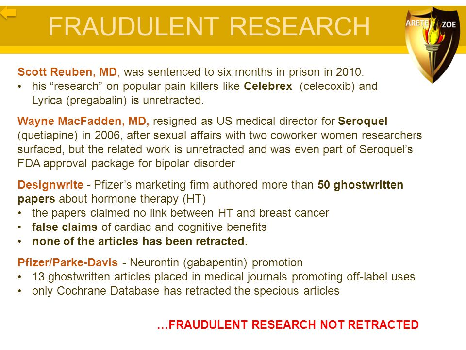 FRAUDULENT RESEARCH Scott Reuben, MD, was sentenced to six months in prison in 2010.
