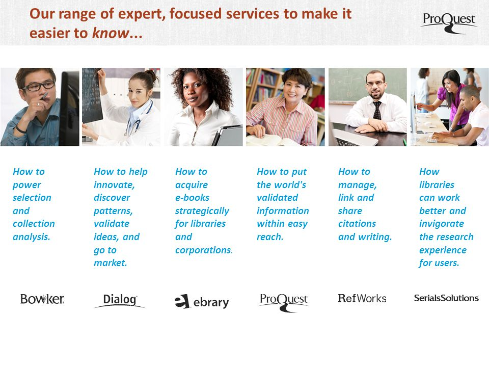Our range of expert, focused services to make it easier to know...