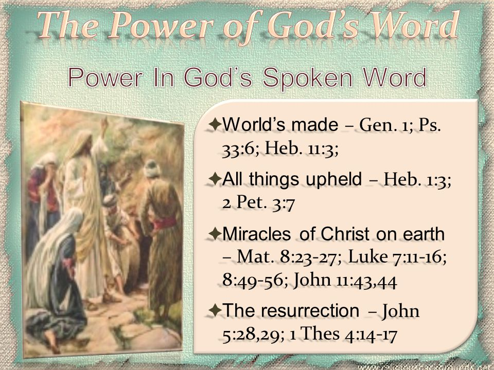 Power In God's Spoken Word