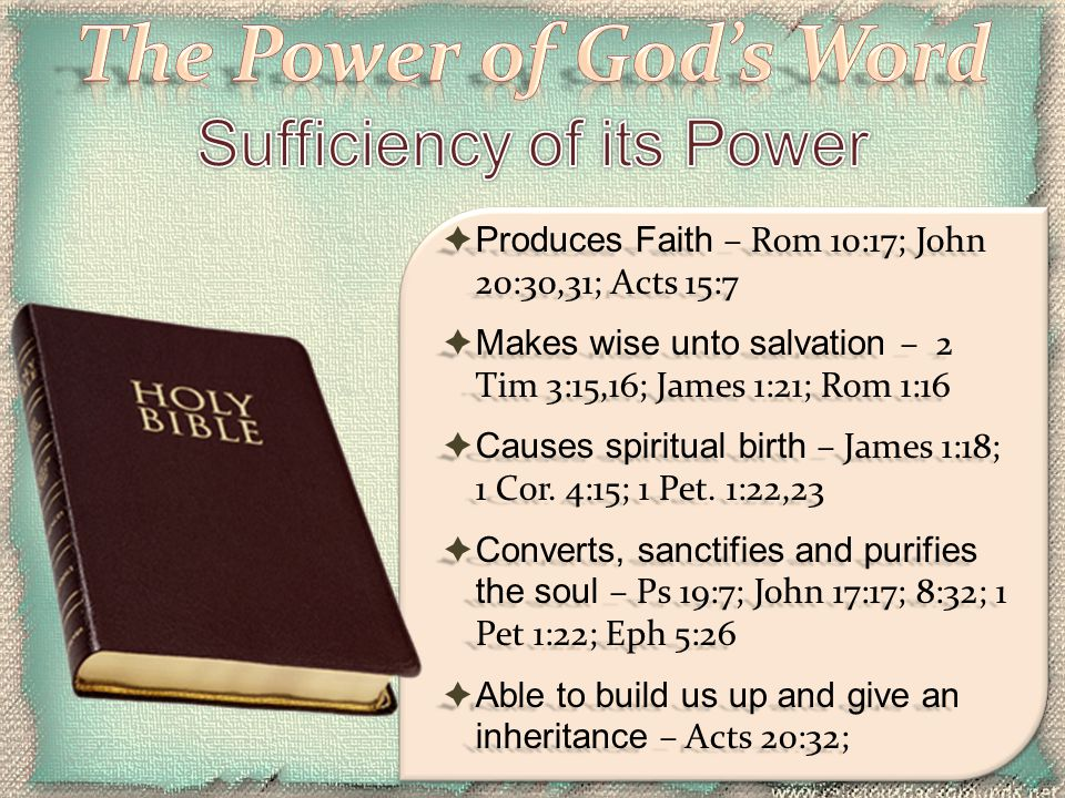 Sufficiency of its Power