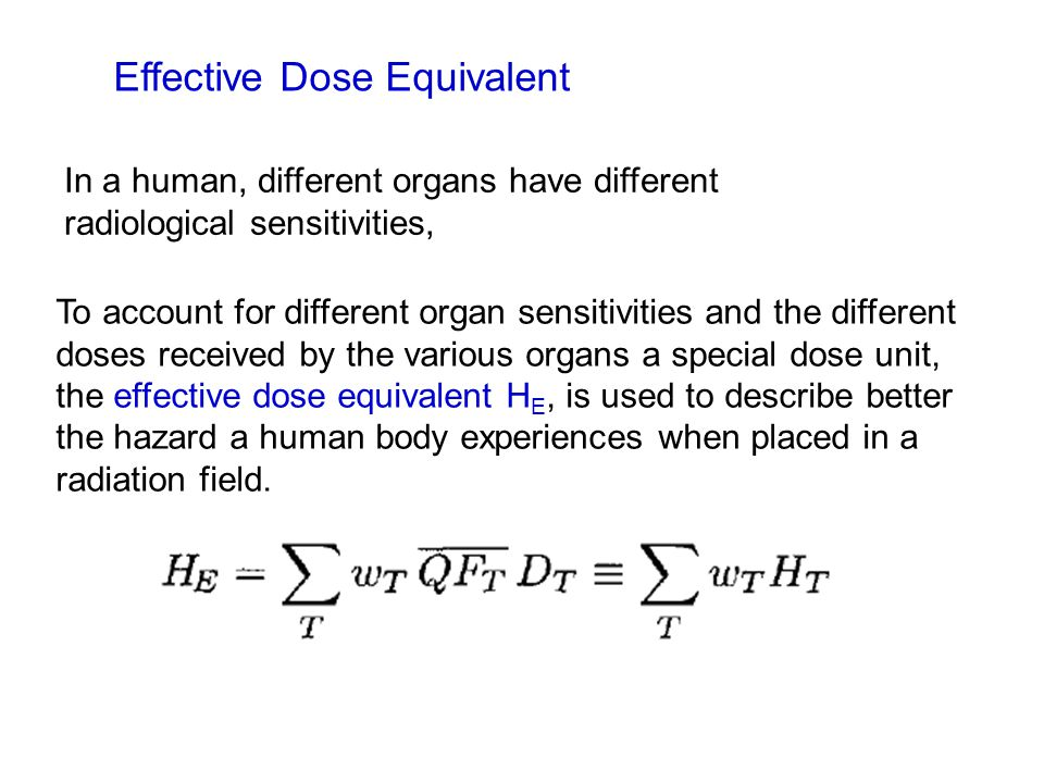 Effective Dose Equivalent