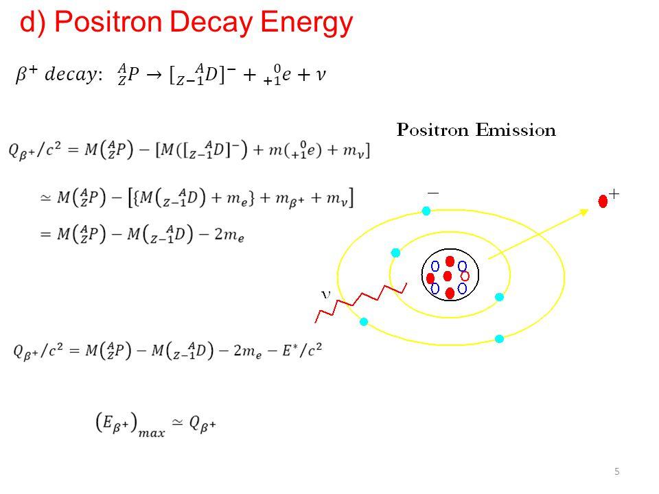 d) Positron Decay Energy